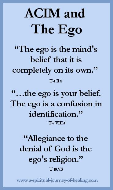 acim quote on the ego
