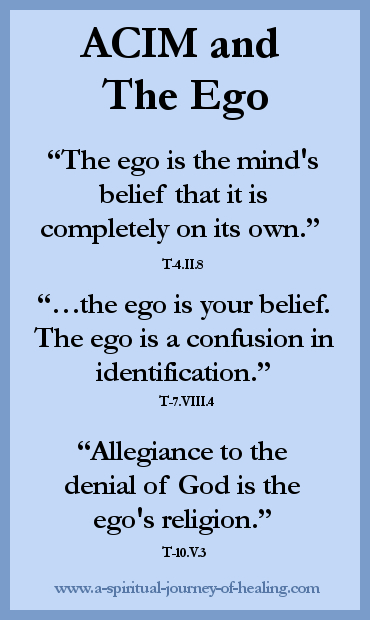 acim quote on the ego