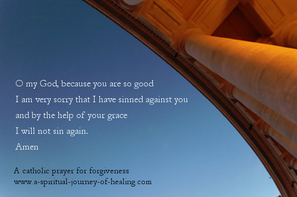 catholic prayer for forgiveness said at the end of confession