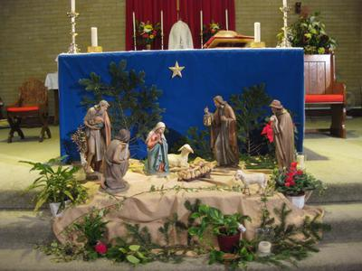 Nativity picture, St Joseph's church Wroughton