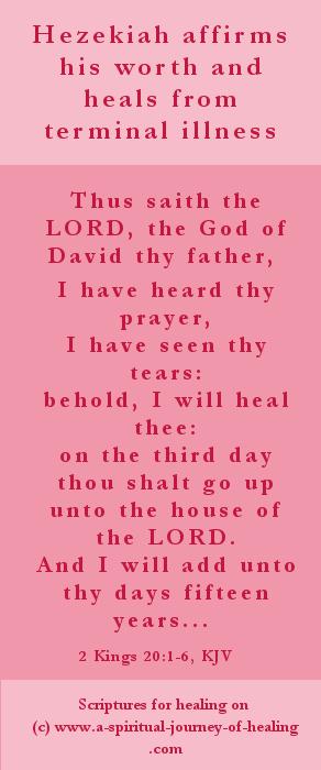 The Old Testament healing of Hezekiah