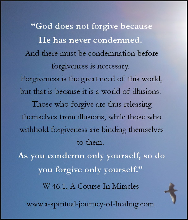 ACIM quote forgiveness