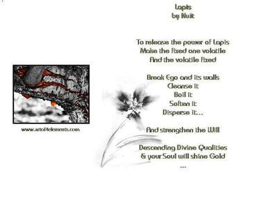 Alchemy Poems, Lapis by Nuit