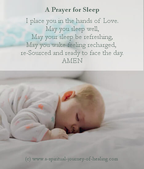 Prayer for sleep - Bible quotes and small prayers
