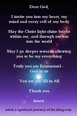 Spiritual Christmas Prayer
