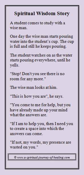 spiritual wisdom story