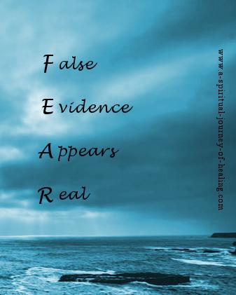 fear and faith as acronyms