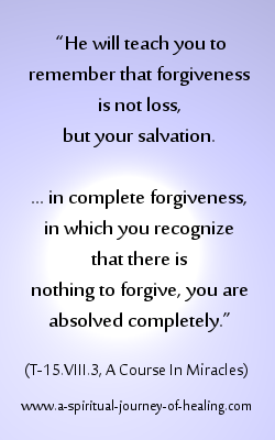 definition of forgiveness from acim