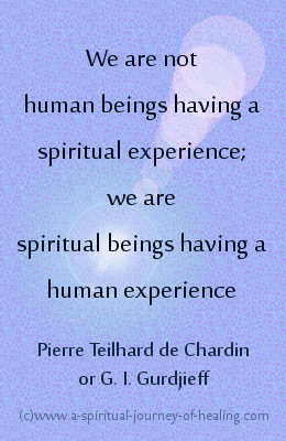 spiritual beings quote